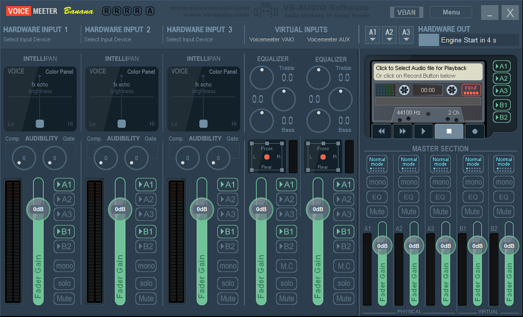 Voicemeeter Banana: Virtuelles Audiokabel und Software Mixer